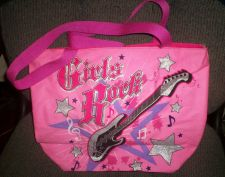 Buy *~NEW Pink Girls Rock Tote Purse-Large