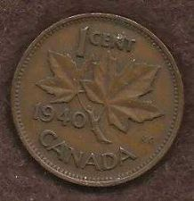 Buy Canada 1 Cent 1940 Uncrowned King George V Coin 2