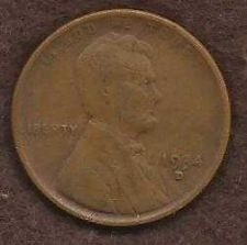Buy US 1934 D Lincoln Type Wheat Cent Penny