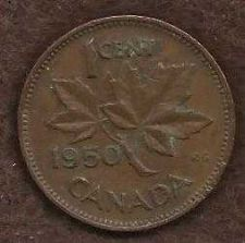 Buy Canada 1 Cent 1950 Uncrowned King George V Coin