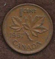 Buy Canada 1 Cent 1957 Queen Elizabeth Coin