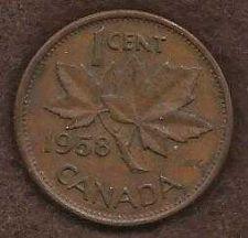 Buy Canada 1 Cent 1958 Queen Elizabeth Coin