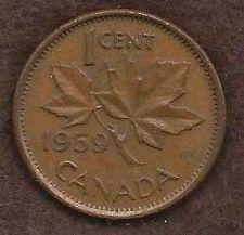Buy Canada 1 Cent 1959 Queen Elizabeth Coin