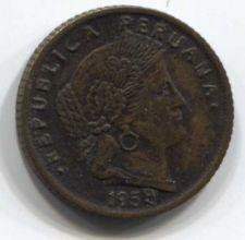 Buy 1959 Peru 5 centavos Odd 9 in Date Clean Collectible Brass
