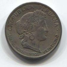 Buy 1921 Peru 10 centavos Veintiuno Clean Collectible Copper Nickel Circulated Worn