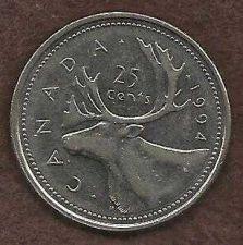 Buy Canada 1994 25 Cents (Canadian Caribou Quarter)