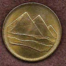 Buy Egypt Pyramids Coin 5 Piastre 1984. Nice Coin! 18mm 3 Pyramids Of Giza - Rare!
