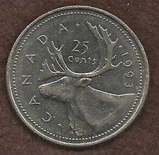 Buy Canada 1993 25 Cents (Canadian Caribou Quarter)