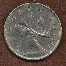 Buy Canada 1977 25 Cents (Canadian Caribou Quarter)