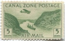 Buy 1931 Panama Canal Zone Postage 5c Air Mail unused green clean mint