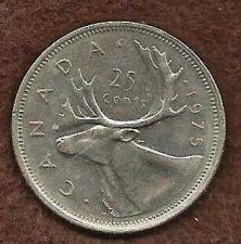 Buy Canada 1975 25 Cents (Canadian Caribou Quarter)