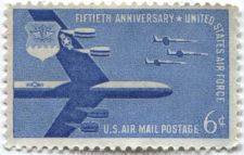 Buy 1957 6c AirMail 50th Anniversary US Air Force B-52 Mint Never Used