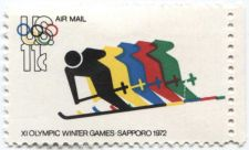 Buy 1972 11c XI Olympic Winter Games Sapporo Mint selvage right attached unused
