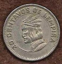 Buy Honduras 20 Centavos 1973 - Indian Chief Lempira, Copper-Nickel Coin FAO Series Issue