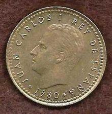 Buy Spain 1 Peseta 1980 Coin Juan Carlos