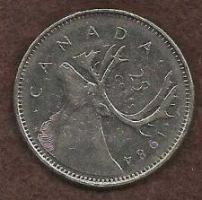 Buy Canada 1984 25 Cents (Canadian Caribou Quarter)