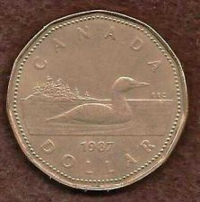 Buy Canada 1987 $1 Dollar, Loonie, Loon Dollar