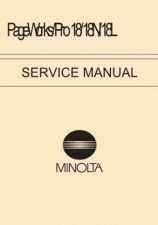 Buy MINOLTA PageWorks Pro 18 18N 18L Service Manual Service Manual by download #1382