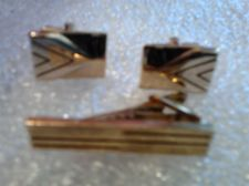 Buy Men's High Quality Gold Color Retro Cuff links with Tie Clasp Great gift!