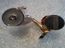 Buy Two (2) Men's High Quality Pairs of Cuff links one gold one silver in color