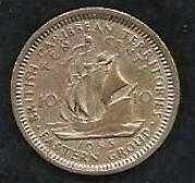 Buy Brittish Carribean Territories 10 cents 1955