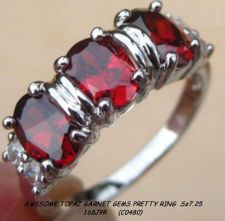 Buy 168J9R - Ring - Topaz Garnet Gemstones 925SSP Sz 7.25