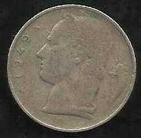 Buy Belgium 5 Francs Coin. 1949, French Legend Belgique, 24 mm, KM-134.1