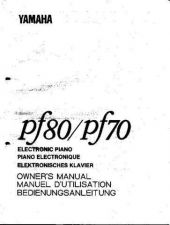 Buy Yamaha PF80E Operating Guide by download Mauritron #204995