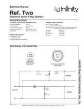 Buy INFINITY RS TWO TS Service Manual by download #147716