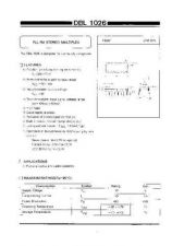 Buy INTEGRATED CIRCUIT DATA DBL1026J Manual by download Mauritron #186775