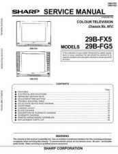 Buy Sharp 29A80ST-90ST SM GB Manual by download #169970
