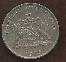 Buy Trinidad & Tobago 25 Cents 1975 Coin - ~ Chaconia