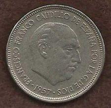 Buy Spain 5 PESETA 1957