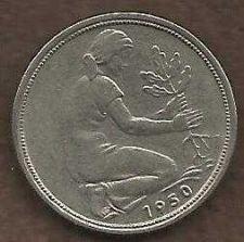 Buy 1950 German 50 Pfennig Coin