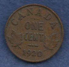 Buy Canada 1 Cent 1920 Crowned King George V Coin