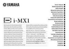 Buy Yamaha I MX1 OM WEB B0 Operating Guide by download Mauritron #204730