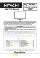 Buy HITACHI 42EDT41 USA Service Manual by download #163348