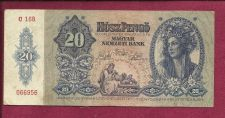 Buy Hungary 20 Pengo 1941 P109 Banknote #066956 -WWII Era Currency - Girl in Costume