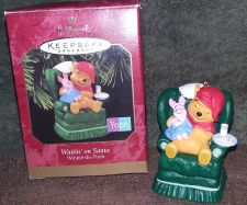 Buy Hallmark Keepsake Winnie Pooh Ornament Waiting on Santa w/original box sold $12.95