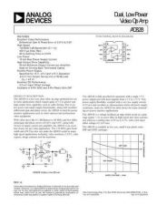 Buy INTEGRATED CIRCUIT DATA AD828J Manual by download Mauritron #186378