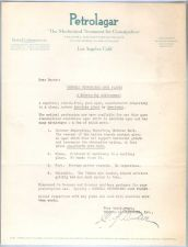 Buy CA Los Angeles Letterhead / Billhead Petrolager 4383 Fruitland Avenue~57