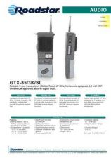 Buy ROADSTAR GTX-85 3K SL by download #128135