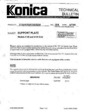 Buy Konica 32A SUPPORT PLATE Service Schematics by download #136118