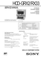 Buy SONY HCD-GRX2RX33 Service Manual by download #166963