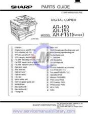 Buy Sharp AR150-155N SM SUPPLEMENT GB Manual by download #179350