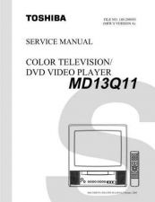 Buy TOSHIBA MD13Q11 SVM Service Schematics by download #160159