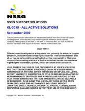 Buy Konica KL3015 Service Schematics by download #136454
