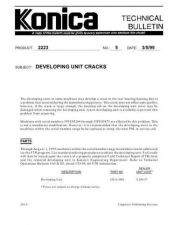 Buy Konica 05 DEVELOPER UNIT CRACKS Service Schematics by download #135870