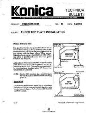 Buy Konica 40 FUSER TOP PLATE INSTALLA Service Schematics by download #136161