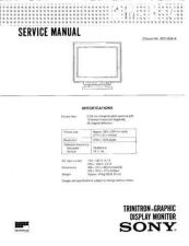 Buy SONY GDM-1634 Service Manual by download #166858